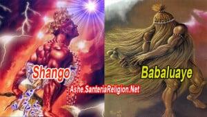 ORISHAS SHANGO Y BABALUAYE